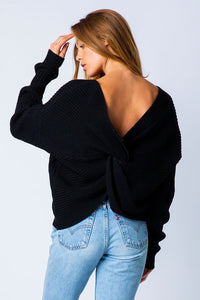 Lean On Me Sweater (Black)