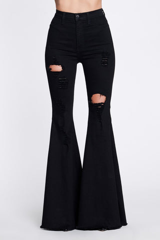 Downtown Classic Flares (Black)