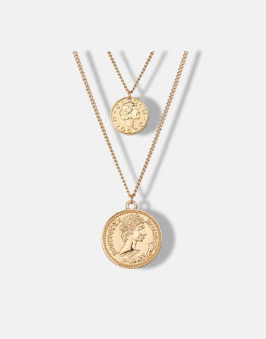 Nicolette Layered Coin Necklace