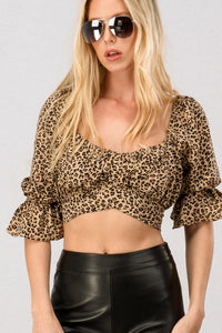 Claws Out Leopard Crop Top