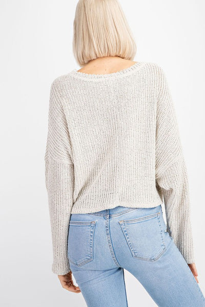 Quincy Knit Sweater (Oatmeal)