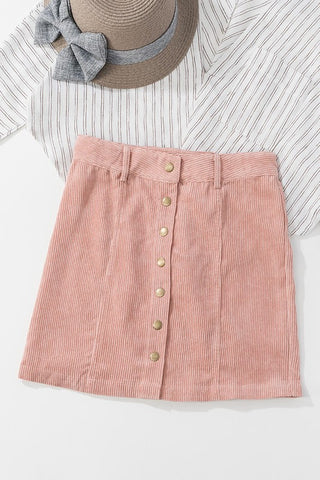 I Got You Babe Corduroy Skirt (Mauve)