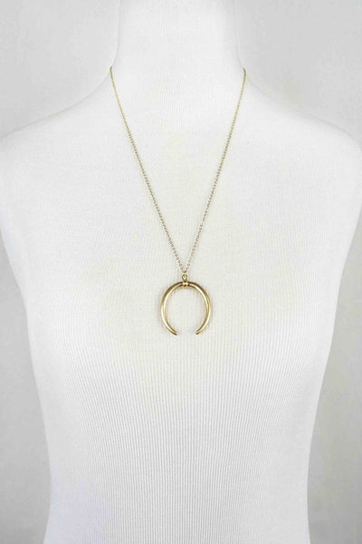 Simplistic Crescent Necklace