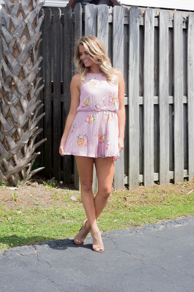 Vintage Pink In My Daydreams Romper