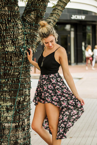 He Loves Me, He Loves Me Not Maxi Romper (Black)