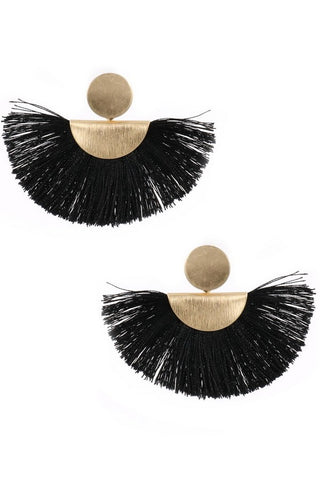 City Nights Tassle Earrings (black)