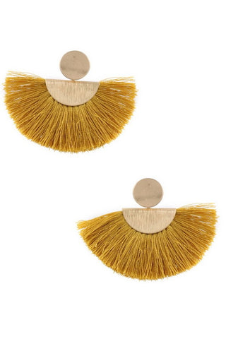 City Nights Tassle Earrings (mustard)