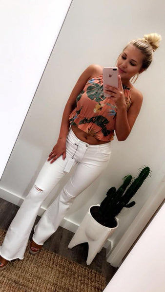 Make A Statement Flares (White)