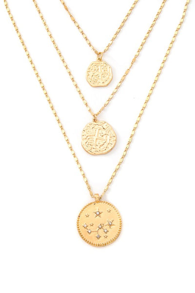 Mosaic Layered Coin Necklace