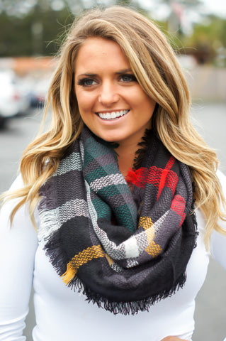 Jingle Bell Rock Plaid Infinity Scarf