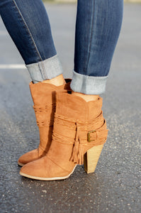 Rust Buckle Booties