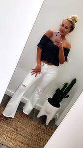 Make A Statement Flares (White) (Last One size 7)