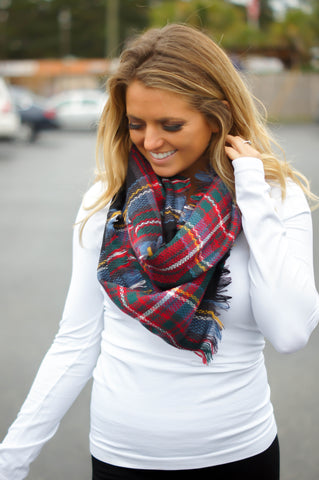 12 Days Of Christmas Plaid Infinity Scarf