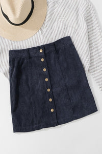 I Got You Babe Corduroy Skirt (Navy)