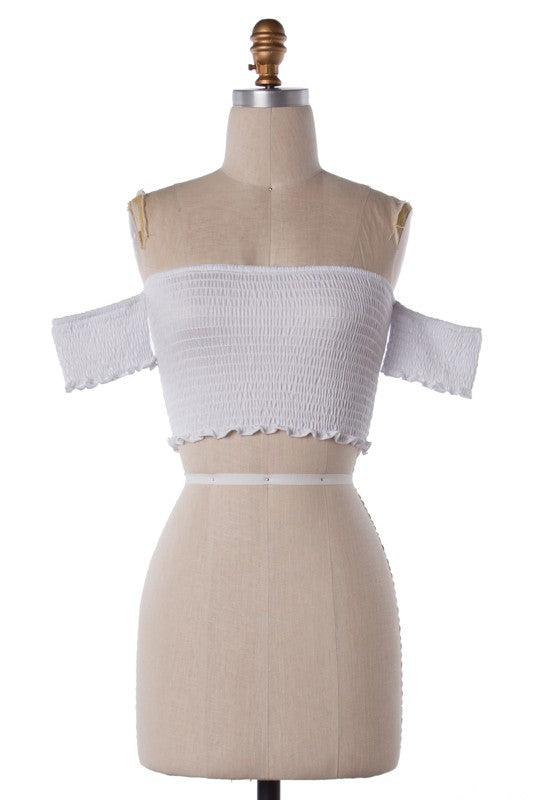 Take The Wild Side Crop Top (Off White)