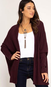 Wild Winds Cardigan (Eggplant)