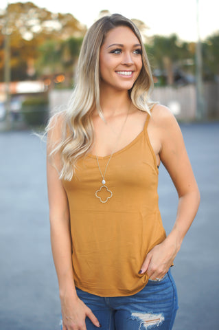 Happy Daze Tank Top (Mustard)