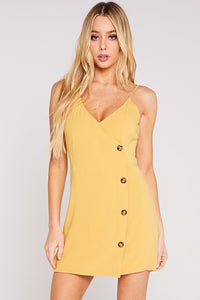Written In The Sand Dress (Mustard)