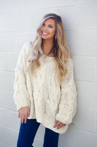 Cold Front Sweater (Almond)