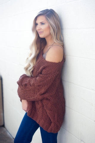 Cold Front Sweater (Russet)