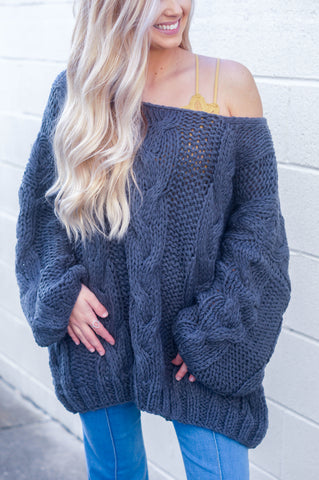 Cold Front Sweater (Blue Grey)