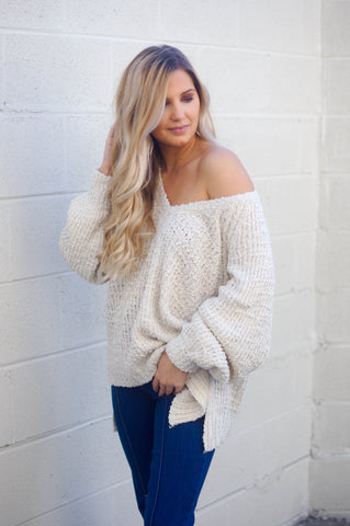 Here Comes The Change Sweater (Ivory)