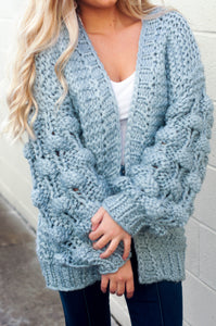 Movie Night Cardigan (Misty Blue)