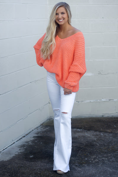 Ever So Soft Sweater (Coral)