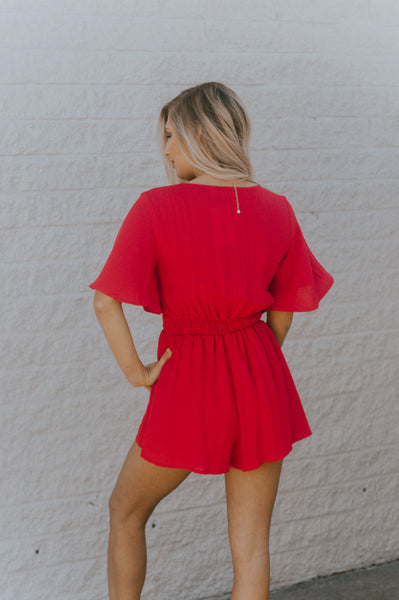 Cherry On Top Romper (Red)