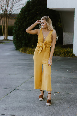 What You've Been Missing Jumpsuit (Yellow)