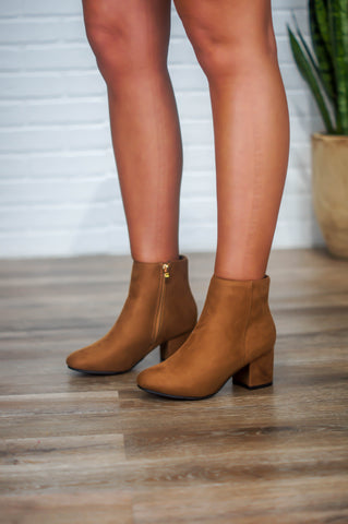 Jump Into Fall Booties (Camel)