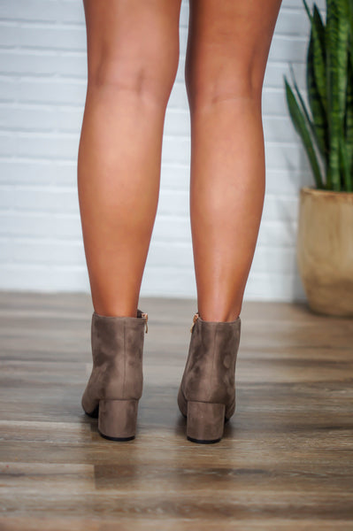 Jump Into Fall Booties (Taupe)