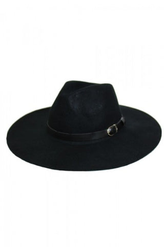 Panama Wool Hat (Black)