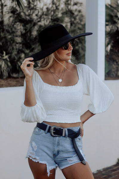 Always In My Heart Top (White)
