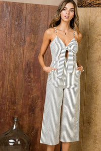 Girls Night Out Jumpsuit (White/Black)