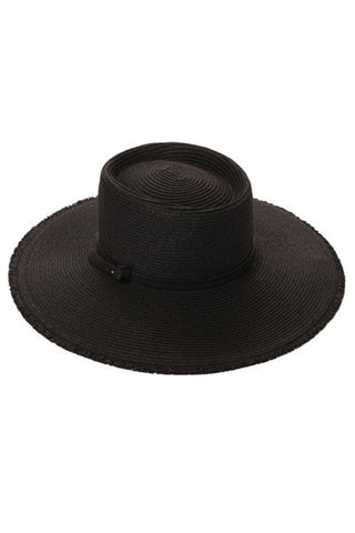 Nicoya Panama Straw Hat (Black)