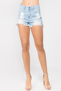 Long Week Light Denim Shorts