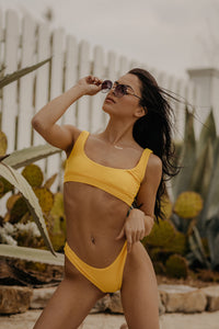 Ray Of Sunshine Swimsuit Top (Yellow)