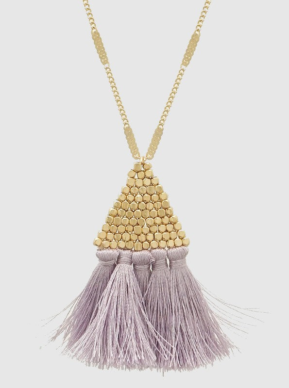 Fan Of Drama Necklace (Lilac)