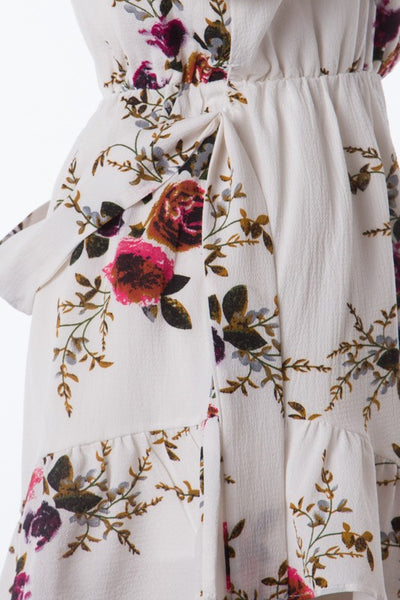 Full Of Petals Romper (Off White)