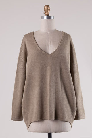 Rosalind Knit Sweater (Taupe) (Last One Large)