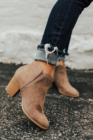 Well On Your Way Booties (Taupe)