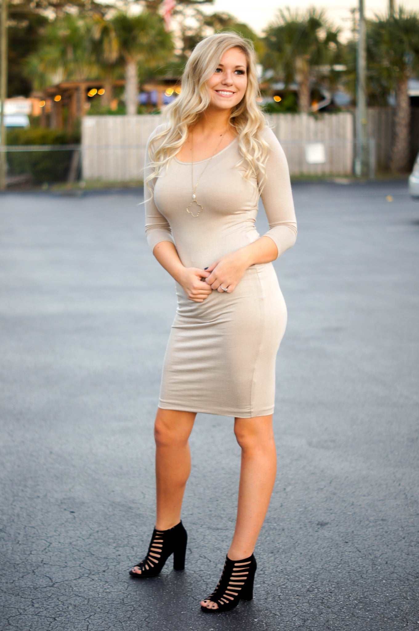 Taupe Margo Dress