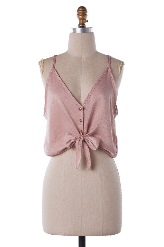 So Satin Tank Top (Blush)