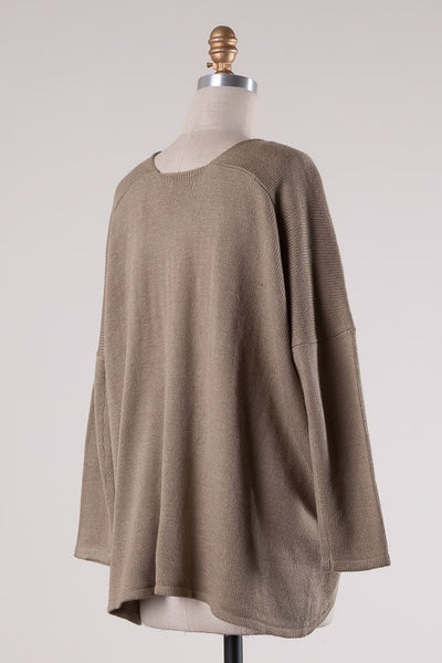Rosalind Knit Sweater (Taupe)