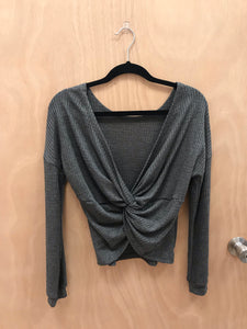 Knot A Chance Top (Charcoal)