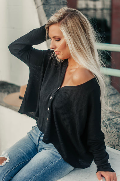 Dreamy Afternoon Thermal Top (Black)