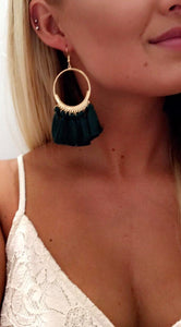Flaunt It Tassel Earrings (Green)