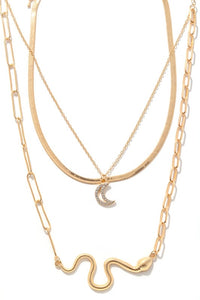 Charming Snake Layered Necklace