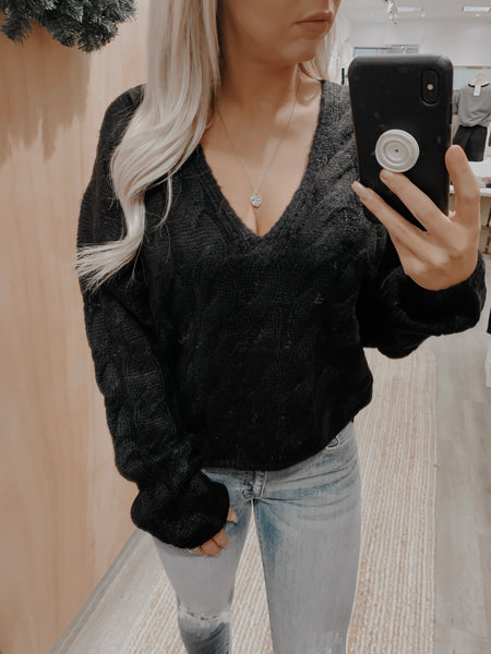 Black Diamond Knit Sweater